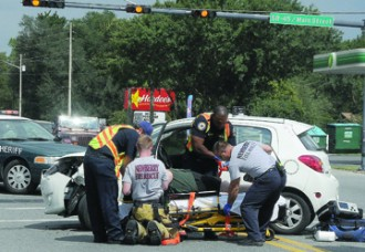 U-turns causes accident in Newberry